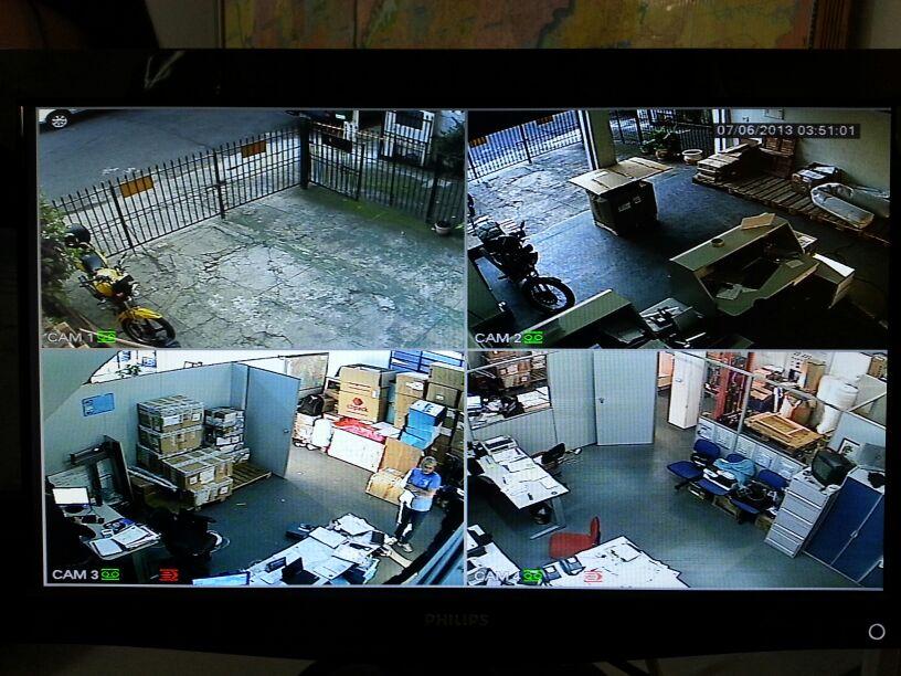 Câmeras de segurança evitam assaltos